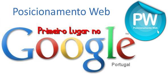 Primeiros lugares google.pt